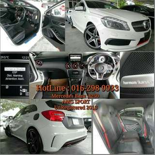 Mercedes-Benz A250 AMG-SPORT  🚘Japan Spec  UnRegistered Year 2013   📣FOR SALE ~~   💈We PROVIDE  -JPJ SERVICES  -LOAN ARRANGEMENT  ⬆TRADE IN   📣📣📣CALL NOW for more information   📣📣📣📣HotLine : 016-298 9933  .