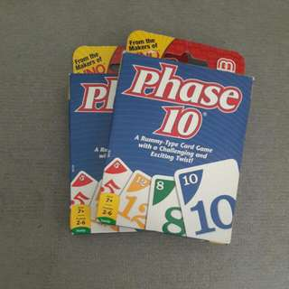 Phase 10 Playing Cards
