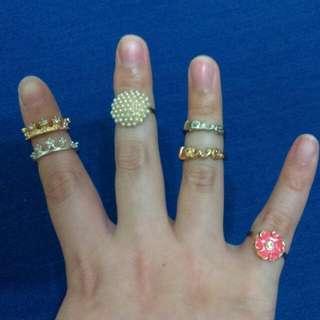 皇冠 花朵 Love 戒指 多款可挑 #內有更多飾品特價#