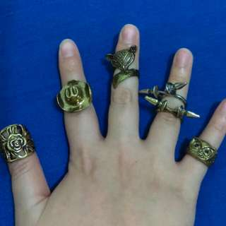 龐克風 牛仔帽 爪子 動物 貓頭鷹 狐狸 戒指 #內有更多飾品特價#