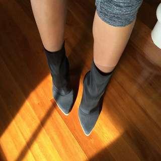 Windsorsmiths Black Sock Boots Size 8