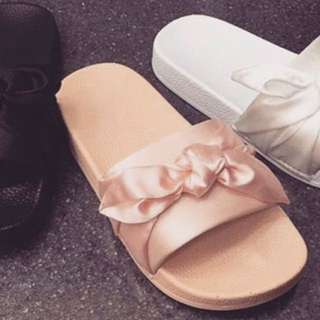 Satin Bow Sandal