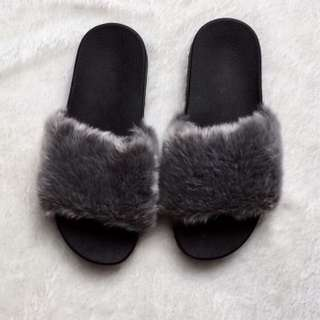 Givenchy Fur Slides