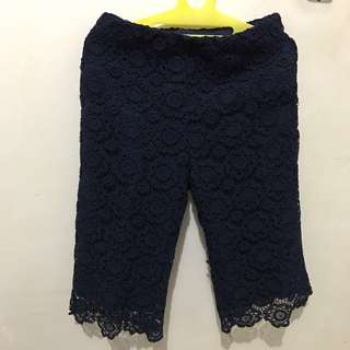 Brokat Knee High Navy Blue