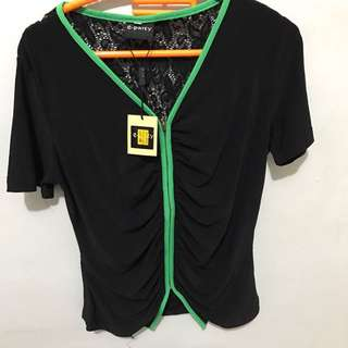 Brokat Green Top