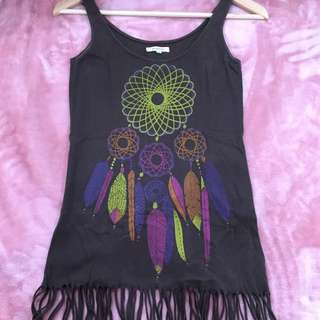RAMADHAN SALE! MANGOSTEEN Fringed Tank Top