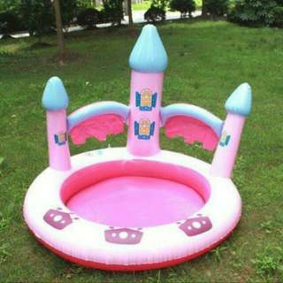 *FREE DELIVERY to WM only / Ready stock* Kids 115*100cm castle pool as shown design/color. Free delivery applied for this item.