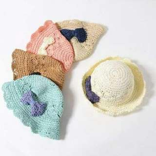 【現貨】💖兒童手工鉤織草帽💖