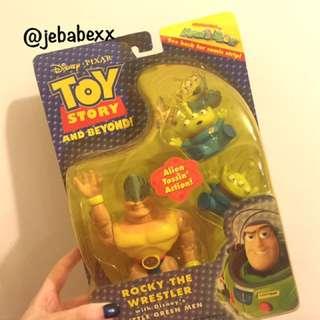 超稀少 絕版 迪士尼 玩具總動員 洛基 三眼怪 三眼仔 rocky 吊卡公仔