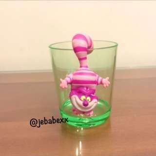 迪士尼 妙妙貓 杯緣子 愛麗絲 夢遊仙境 早期的收藏品 杯緣