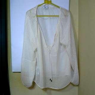 MANGO White Transparent Top