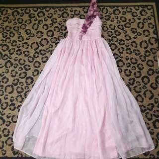 ( REPRICE ) Long Dress Pink