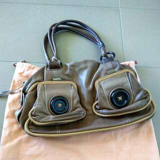 Mimco Button Bag Elephant Leather
