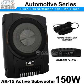 "New AMERICAN RESEARCH AR-15 10"" 150W Car Active Subwoofer"