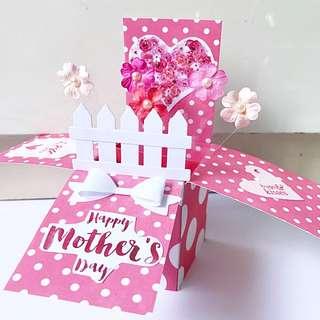 Happy Mother's Day Handmade Pop Card Flower Theme