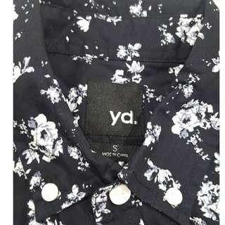 YD Mens Short sleeve button up Shirt