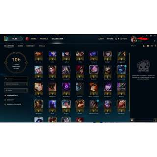 League of legend Account lvl 30 unranked