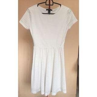F21 White Tshirt Dress