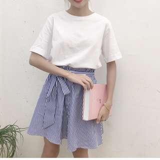 小清新條紋連衣裙