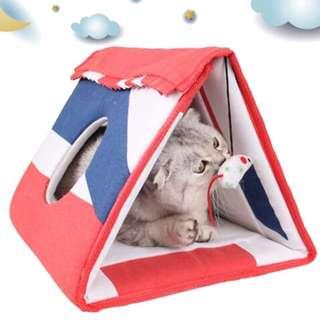 貓窩、貓隧道、睡墊、玩具