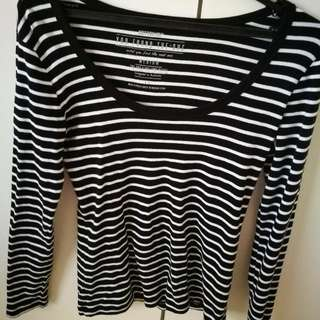 Cotton On Long Sleeve Stripes Top