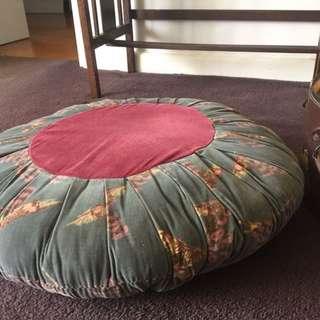 1940's 50's velvet large pinwheel vintage cushion