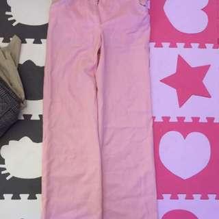 粉紅色Petite女裝西褲