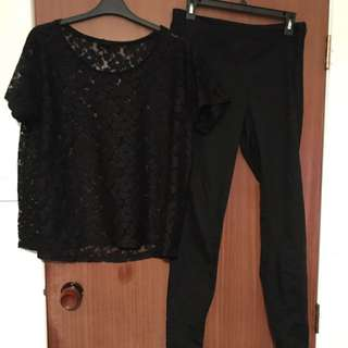 Black Top & Pants H&M