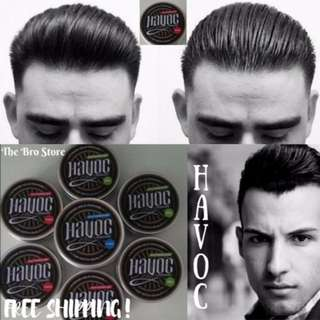 HAVOC Waterbased Hair Styling Pomade 150ml (Easy Washable Strong Hold High Shine)