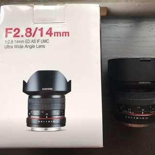 Samyang 14mm f2.8 For Canon