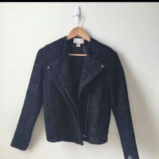 H&M EMBOSSED OUTER JACKET
