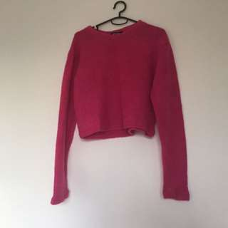 MISGUIDED WOMENS HOT PINK JUMPER IN SIZE M/L