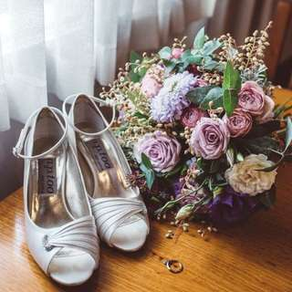 Alan Pinkus Diak 2 Vanilla Salt Pump Bridal Shoe Size 8