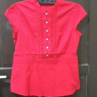 The Executive - Red Blouse XL