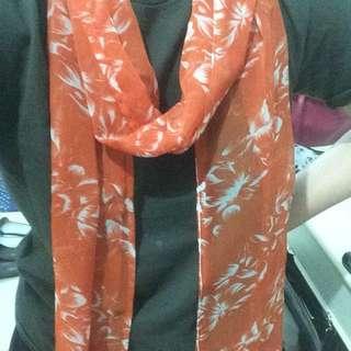 Orange Scarf [FREE ONGKIR JABODETABEK]