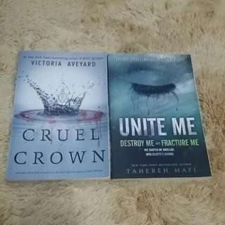 Cruel Crown By Victoria Aveyard And Unite Me By Taherah Mafi