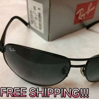 Ray Ban Aviator Sunglasses - RB3387 Black Unisex