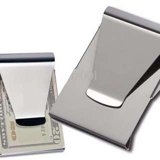 Slim Clip Money Credit Card cash Holder Wallet Stainless Steel Double sided