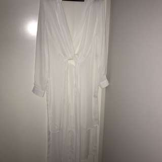 White Long Top Never Worn
