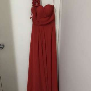 Red Formal Dress. Size 8