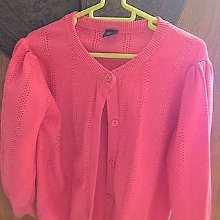 Lovely Pink Baby GAP Cardigan For 4 - 6 Year Old