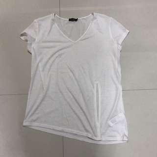 Zalora Plain White Shirt