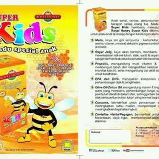 Madu Kesehatan Untuk Anak. Penambah Napsu Makan