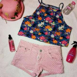 H N M top And Short Pants