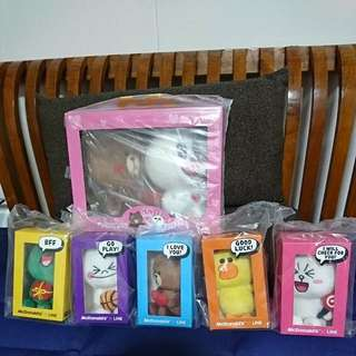 Brand New Macdonald Toy LINE Plushies Toys In A Set $60.00