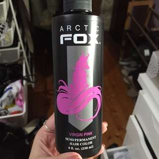 Arctic Fox Virgin Pink Hair Dye