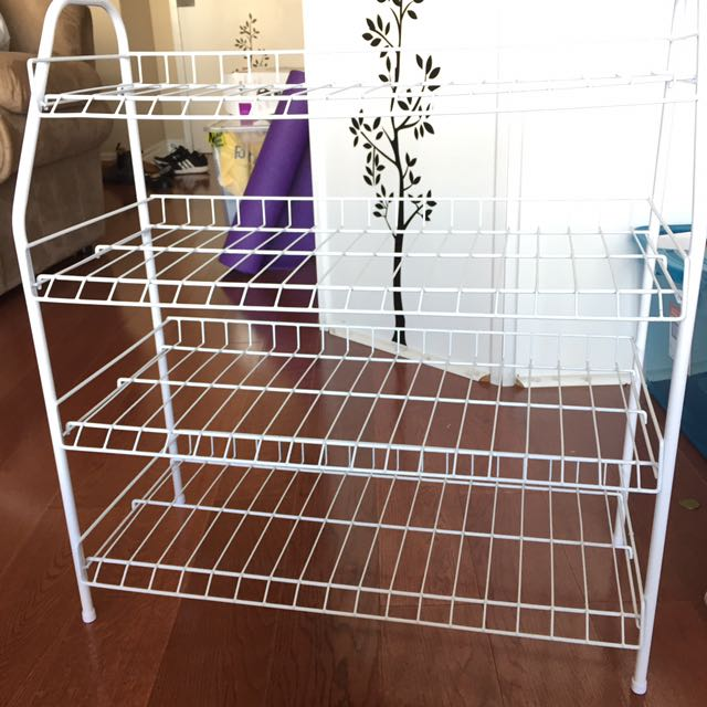 4 Level wire shoe rack