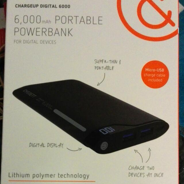 6,000 mAh Portable Powerbank