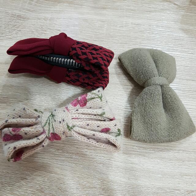 二手髮夾三個
