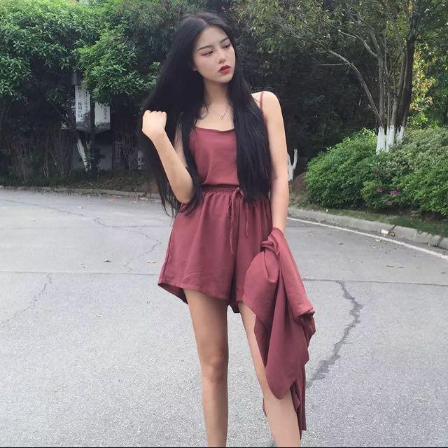 韓版雪紡顯瘦百搭成套套裝
